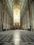 Interior of Amiens Cathedral  Amiens  Unesco World Heritage Site  Nord  France