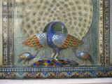Glass Mosaic Peacock Dating from the Late 19th Century  in City Palace  Udaipur  India