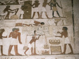 Wall Paintings  Tomb of Rehunire  Valley of the Nobles  Thebes  Unesco World Heritage Site  Egypt