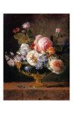Fleurs dans un Vase de Porceleine Bleue  c1780