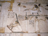 Wall Paintings in the Tomb of Rehunire (Rekhmire)  Valley of the Nobles  Thebes  Egypt