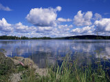 Summer  Lake at Ramen  North of Filipstad  Eastern Varmland  Sweden  Scandinavia
