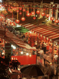 Lanterns and Stalls  Chinatown  Singapore  Southeast Asia