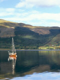 Wooden Yacht on Loch Leven  in Autumn  Glencoe  Highland Region  Scotland  United Kingdom