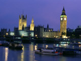 Houses of Parliament Across the River Thames  London  England  United Kingdom