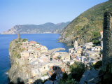 Village of Vernazza  from the East  Cinque Terre  Unesco World Heritage Site  Liguria  Italy