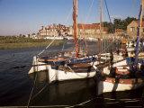 Boats Moored in Harbour  Blakeney Hotel  Blakeney  Norfolk  England  United Kingdom