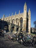 Bicycles in Front of King's College  Cambridge  Cambridgeshire  England  United Kingdom