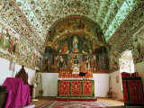 Syrian Christian Church  Cheria Palli (Small St Mary&#39;s)  Side Wall and Barrel Vault Paintings