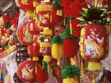 Red and Yellow Lanterns for Sale at Chinese Lantern Shop in Georgetown  Penang  Malaysia