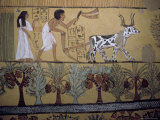 Wall Paintings in the Tomb of Sennejem (Sinjin)  Deir El Medina  Thebes  Egypt