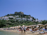 Lindos Beach  Rhodes  Greek Islands  Greece