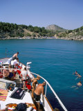 Boat Trippers  East Coast  Anthony Quinn&#39;s Bay  Rhodes  Greek Islands  Greece