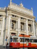 Hofburgtheatre with Tram  Vienna  Austria