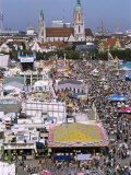 Oktoberfest from Above  Munich  Bavaria  Germany
