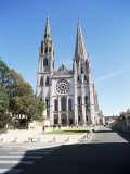 West Front  Notre Dame Cathedral  Chartres  Val De Loire  Centre  France