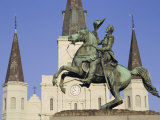 Jackson Square  St Louis Cathedral  New Orleans  Louisiana  USA