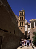 Tourists  St Catherine's Monastery  Unesco World Heritage Site  Sinai  Egypt  North Africa  Africa