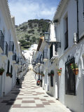 Calle San Sebastian  a Narrow Street in Mountain Village  Mijas  Malaga  Andalucia  Spain