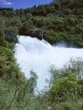 The Huka Falls  Known as Hukanui (Great Body of Spray) in Maori  10M High  Waikato River