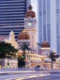 Sultan Abdu Samad Building  Kuala Lumpur Law Court  Illuminated at Night  Kuala Lumpur  Malaysia