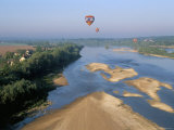 Hot Air Ballooning Above the Loire River  Blois Region  Pays De Loire  France