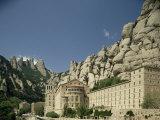 Monastery of Montserrat  Near Barcelona  Catalonia  Spain