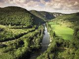 River Aveyron Near St Antonin Noble Val  Midi Pyrenees  France