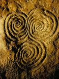 Carvings on Stone  New Grange (Newgrange) Site  County Meath  Leinster  Eire (Ireland)