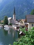 Village and Lake  Hallstatt  Austrian Lakes  Austria
