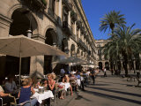 Cafe in the Square  Placa Reial  Barcelona  Catalonia  Spain