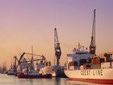 Container Ships  Southampton Docks  Hampshire  UK