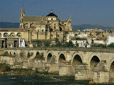 Roman Bridge Across the Rio Guadalquivir  Cordoba  Andalucia  Spain