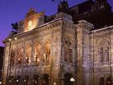 The Opera at Night  Vienna  Austria