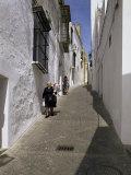 Village Street  Arcos De La Frontera  Cadiz  Andalucia  Spain