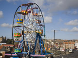 Big Ferris Wheel in Luna Park Amusements Funfair by Harbour  Scarborough  North Yorkshire  England