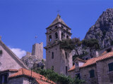 Bell Tower and Fortress  Omis  Makarska Riviera  Croatia