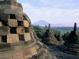 Arupadhatu View  8th Century Buddhist Site of Borobudur  Unesco World Heritage Site  Indonesia