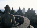 Arupadhatu Buddha  8th Century Buddhist Site of Borobudur  Unesco World Heritage Site  Indonesia