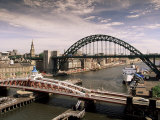 Bridges Across the River Tyne  Newcastle-Upon-Tyne  Tyne and Wear  England  United Kingdom