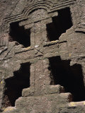 Cross on Christian Bieta Danaghel  Vierges Martyres  Town of Lalibela  Wollo Region  Ethiopia