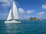 Catamaran  Island of Praslin  Seychelles  Indian Ocean  Africa