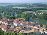 Old Town Seen from St Nazaire Cathedral  Town of Beziers  Herault  Languedoc Roussillon  France