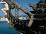 Ship Used in the Film 'Pirates'  Cannes  Alpes Maritimes  Cote d'Azur  Provence  France