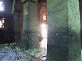 Interior of Christian Church of Bieta Medani Alem  Lalibela  Unesco World Heritage Site  Ethiopia