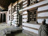 Yemrehanna Krestos (Yemrehanna Kristos) Monastery  Northeast Lalibela  Tigre Region  Ethiopia