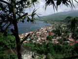 Coast and Town of Saint Pierre from the Mouillage Area  Northwest Coast  Martinique  West Indies