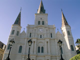 St Louis Cathedral  Jackson Square  New Orleans  Louisiana  USA