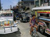 Street Scene  Manila  Island of Luzon  Philippines  Southeast Asia