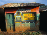 Decorated Building in the Village of Goulisoo  Oromo Area  Welega State  Ethiopia  Africa